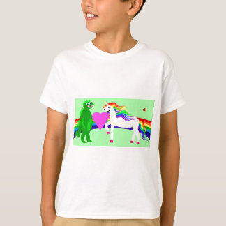 The Unicorn sees the Dinosaur T Shirts