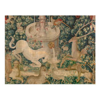 The Unicorn Tapestry Postcard