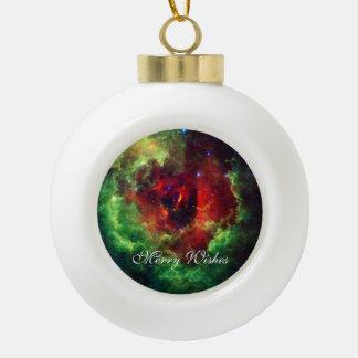 The Unicorns Rose Rosette Nebula Ceramic Ball Christmas Ornament