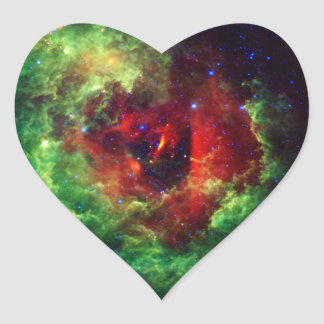 The Unicorns Rose Rosette Nebula Heart Sticker