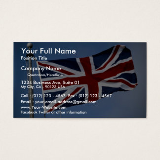 The Union Jack, England Business Card