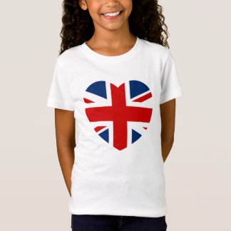 The Union Jack Flag Heart shaped T-Shirt