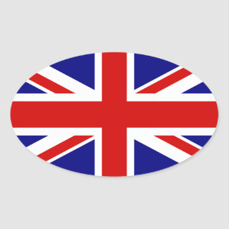 The Union Jack Flag Oval Sticker