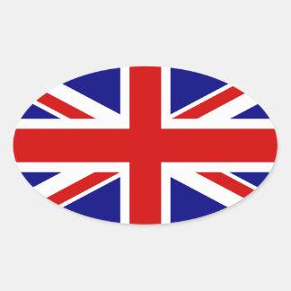 The Union Jack Flag Oval Sticker
