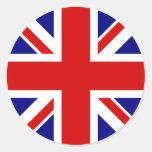 The Union Jack Flag Round Sticker