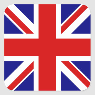 The Union Jack Flag Square Sticker