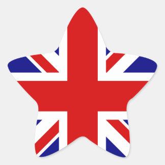 The Union Jack Flag Star Sticker