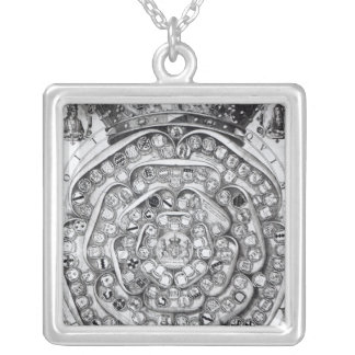 The Union of the Roses of the Families Silver Plated Necklace