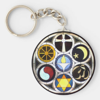 The Unitarian Universalist Church Rockford, IL Basic Round Button Key Ring