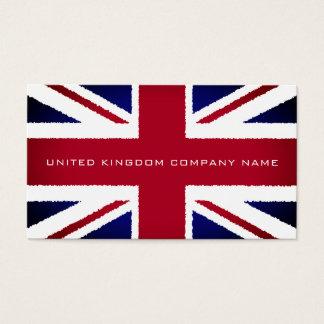 The United Kingdom Flag, Torn Effect, British Business Card