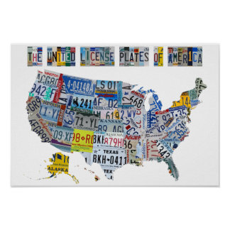 The United License Plates of America Poster