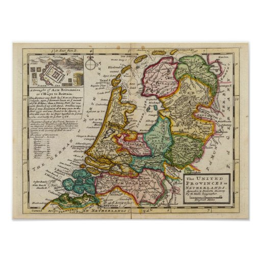 The United Provinces or Netherlands Print