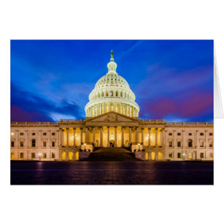 The United States Capitol at blue hour Card