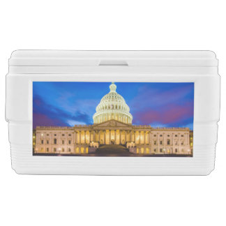 The United States Capitol at blue hour Ice Chest