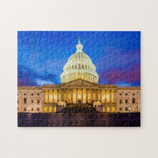 The United States Capitol at blue hour Jigsaw Puzzle