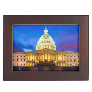 The United States Capitol at blue hour Keepsake Boxes