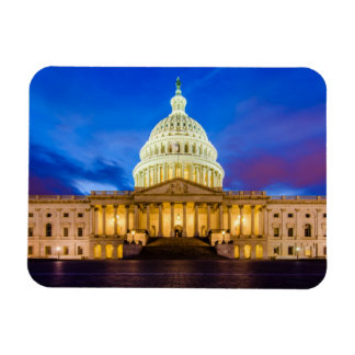 The United States Capitol at blue hour Magnet