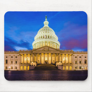 The United States Capitol at blue hour Mouse Mat