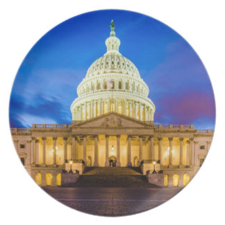 The United States Capitol at blue hour Plate