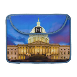 The United States Capitol at blue hour Sleeves For MacBook Pro