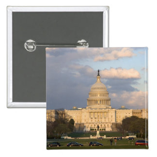 The United States Capitol Building in 15 Cm Square Badge