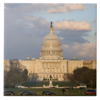 The United States Capitol Building in Large Square Tile