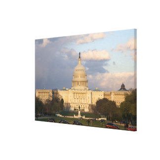 The United States Capitol Building in Stretched Canvas Print