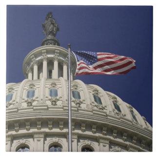 The United States Capitol, Washington, DC Large Square Tile