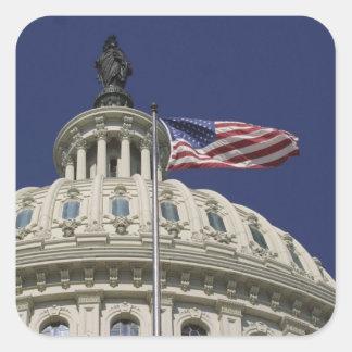 The United States Capitol, Washington, DC Square Sticker