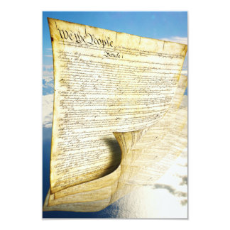 The United States Constitution Above the Earth 9 Cm X 13 Cm Invitation Card
