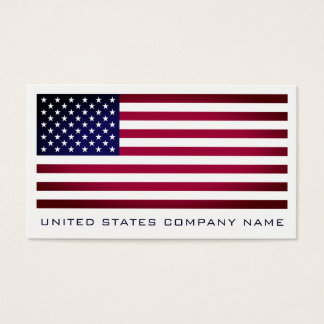 The United States Flag, American Business Card