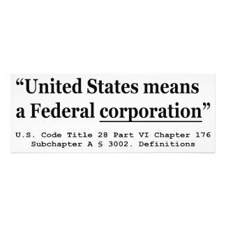 The United States Means A Federal Corporation Photographic Print
