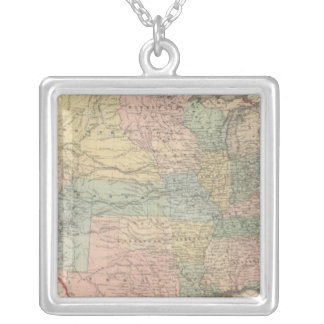 The United States of America Silver Plated Necklace