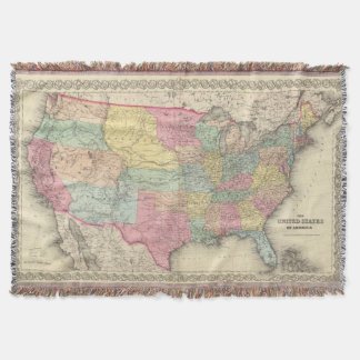 The United States Of America Throw Blanket