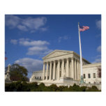 The United States Supreme Court Building in Poster
