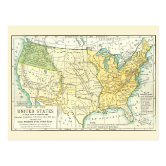 The United States - Vintage Map 1791 - 1891 Postcards