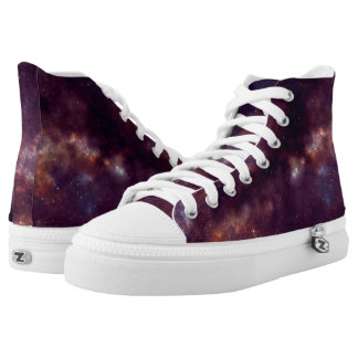"""The universe at your feet"" High Top Shoes Printed Shoes"
