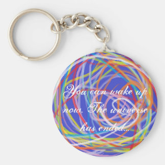 The universe has ended basic round button key ring