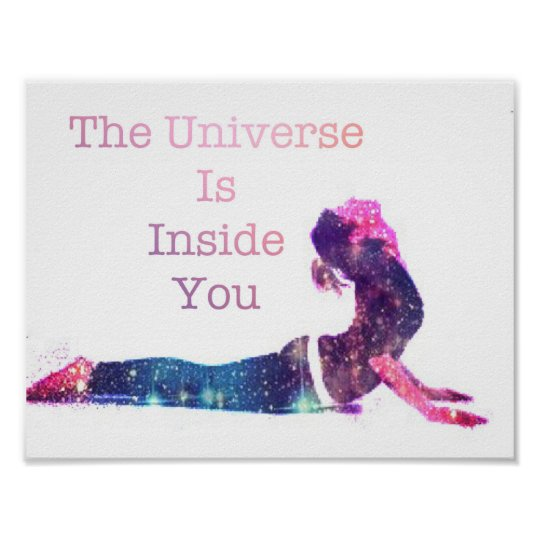 The Universe is Inside You Poster