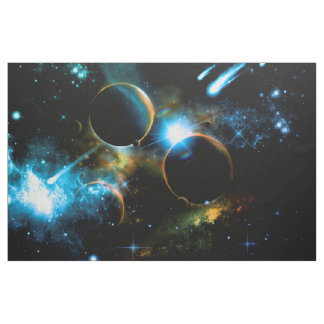 The universe of planets fabric