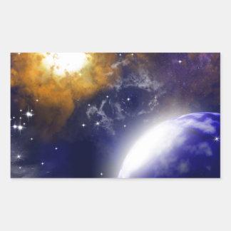 The universe rectangular stickers