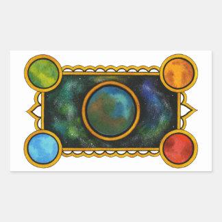 The Universe Rectangular Sticker