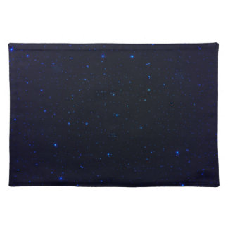 The Universe with Blue Stars Placemat