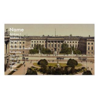 The University, Berlin, Germany rare Photochrom Business Card