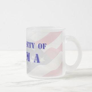 The University of Obama Frosted Glass Mug