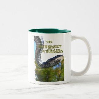 The University of Obama Zoology Dept Two-Tone Coffee Mug