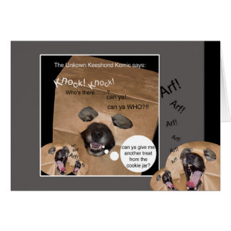 The Unknown Keeshond Komic greeting card