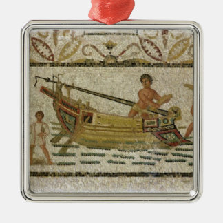 The unloading of a ship christmas ornament