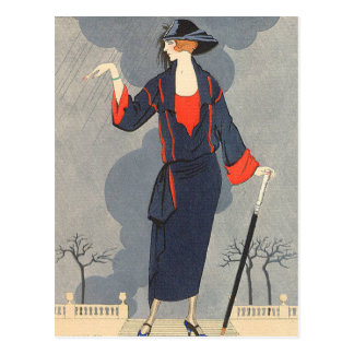 The Untimely Rain by George Barbier Postcards