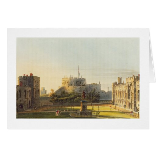 The Upper Ward, Windsor Castle, from 'Royal Reside Greeting Card